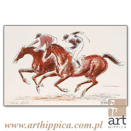 Horse - Painting - Holler Josef | FINISZ |  A lithography by Josef Holler. Signature: Josef Holler; Technique: lithography; Dimensions: 52 x 41 cm; Exhibitions: Czech Parliament, Millennium gallery – Prague.