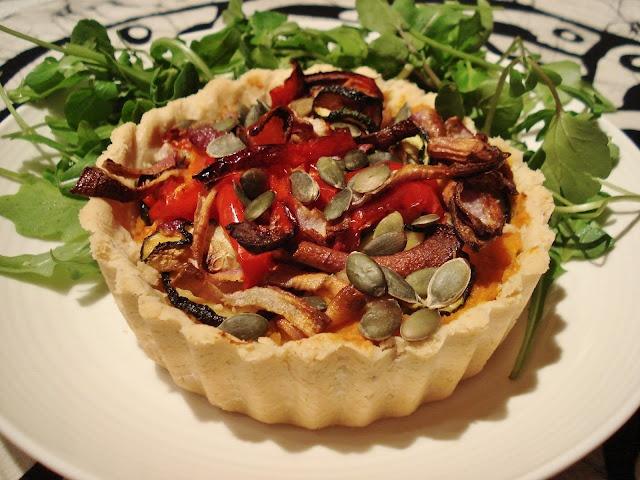 Grain-free SCD Roasted Veggie Tart