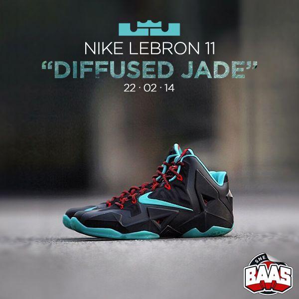 """NIKE LEBRON 11 """"DIFFUSED JADE"""" Release: 22 - 02 - 14  616175-004 www.sneakerbaas.nl"""
