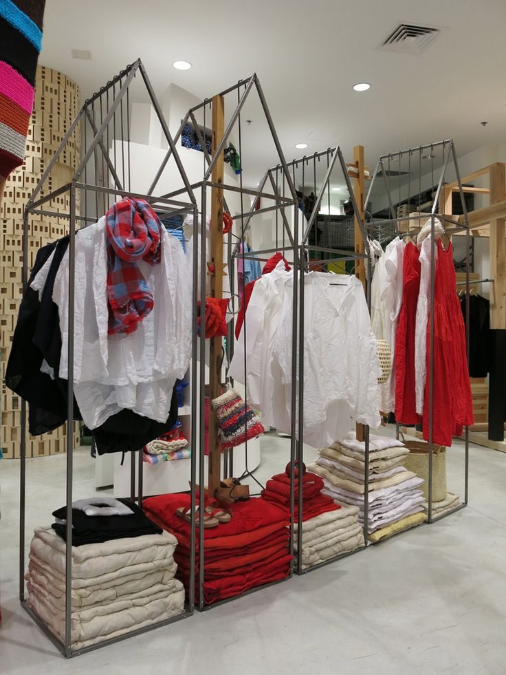 Racks for clothing store