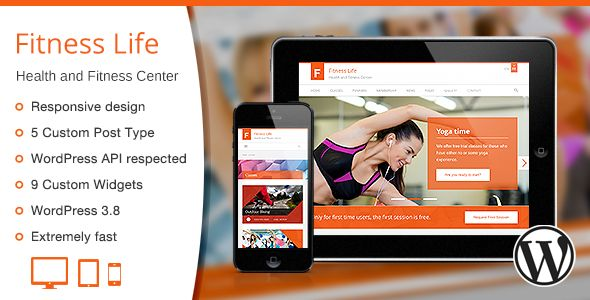 Fitness Life is a responsive and stylish WordPress Theme that is perfectly designed for health, fitness, spa, gyms, yoga classes and it would work perfectly for many sport business types ...