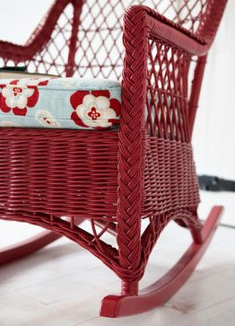 Wicker Rockers by Maine Cottage   The Fiona Rocker #mainecottage