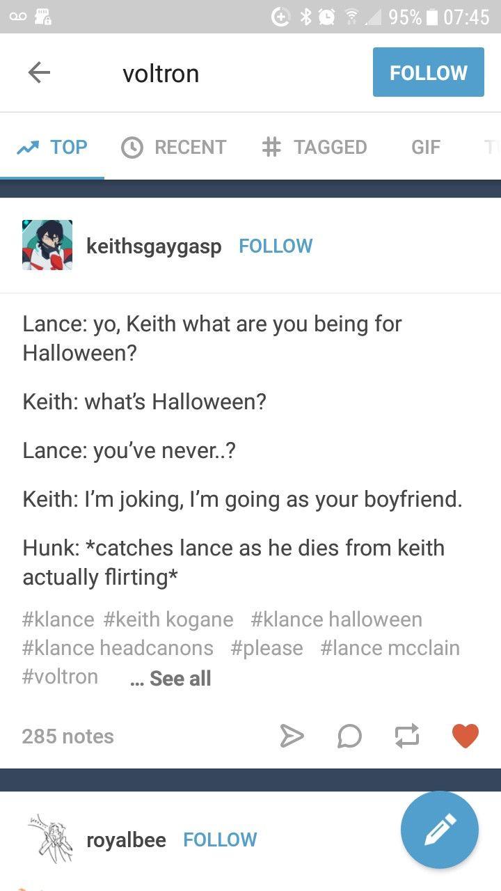 Keith Kogane | Lance McClain | Klance | Voltron