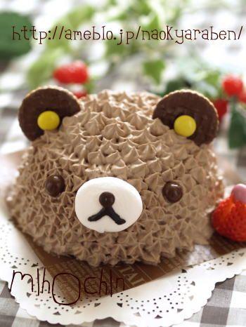 リラックマケーキ - 市販のロールケーキでキャラスイーツ♪   キャラ弁まにあ - キャラ弁レシピや作り方を検索&投稿