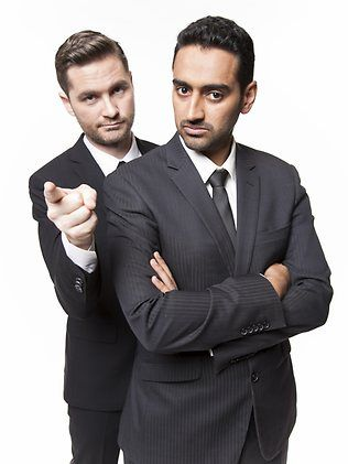 Charlie Pickering & Waleed Aly. http://www.heraldsun.com.au/news/special-features/review-charlie-pickering-waleed-aly-in-the-worlds-problems-solved/story-fncv4qxa-1226610216707