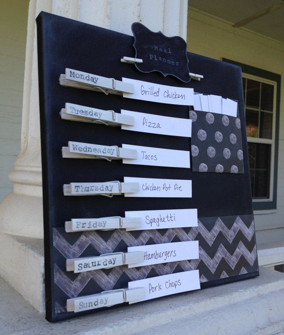 Chalkboard Style Weekly Meal Planner on Etsy, $35.00