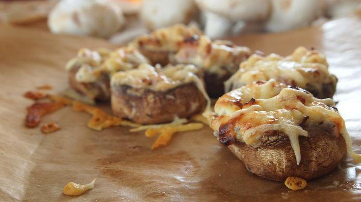 Gevulde champignons met kruidenkaas en spek | VTM Koken