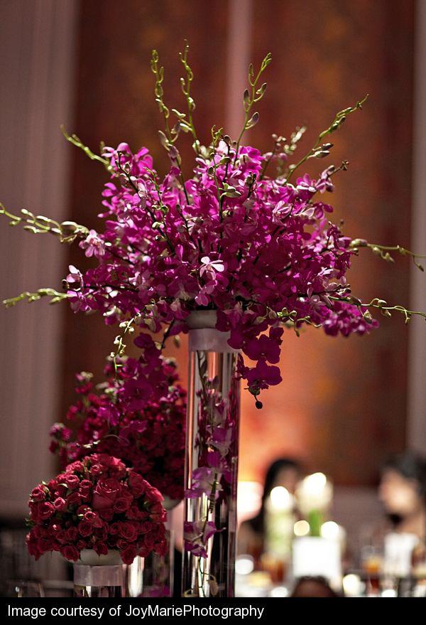 Dendrobium Orchid Centerpiece Purple Pinterest Receptions Facebook And Beautiful Days