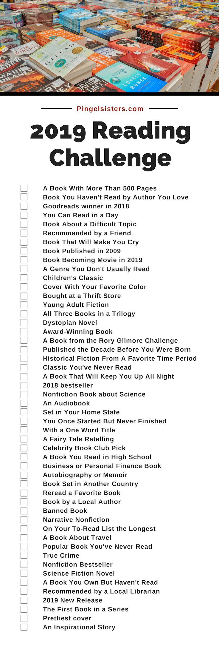 Reading Challenge 2019: A Book A Week with the