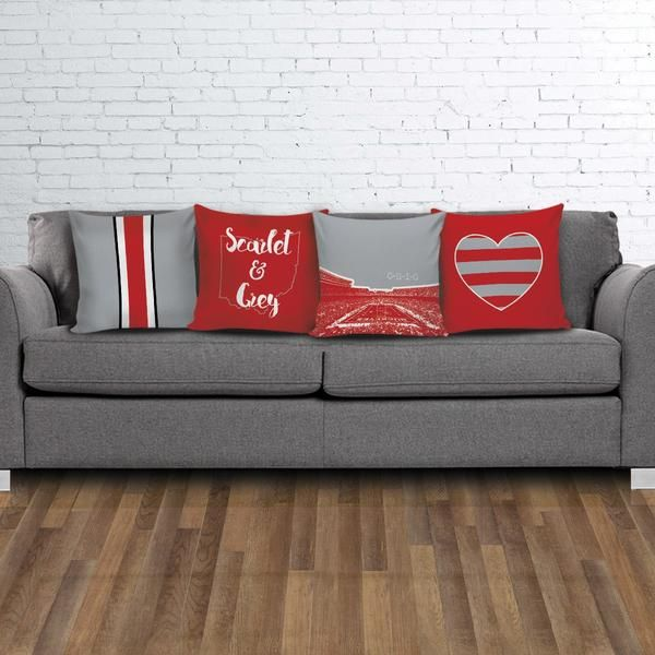 Ohio State Stencil Pillow Covers