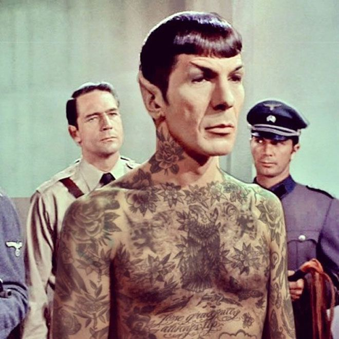 Spock tatted out