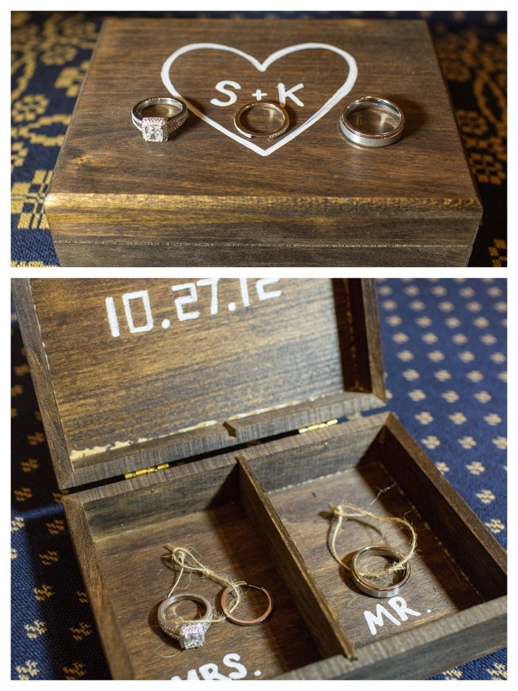 Diy ring bearer box wedding pinterest for Diy ring bearer