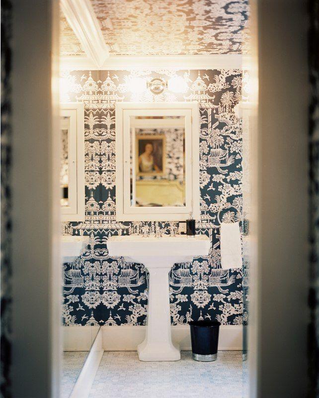 43 best images about nettleton powder room on pinterest veranda magazine wallpapers and powder - Cannon bullock wallpaper ...