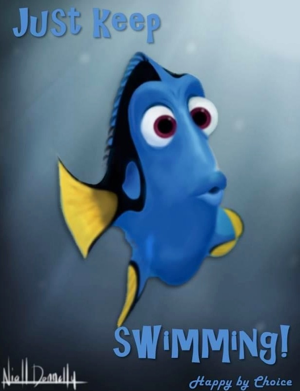 Just keep swimming Dory in Finding NemoDisney Quotes  Quotes 3  Funny    Dory Just Keep Swimming