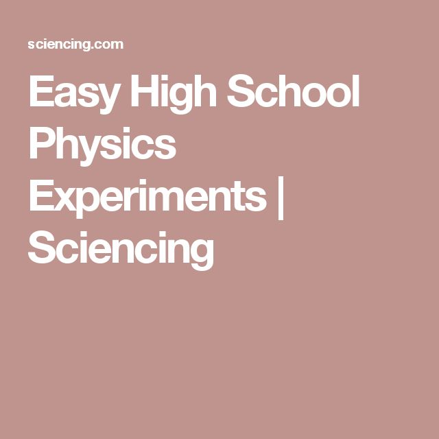 high school physics science fair projects Nuclear reactors, cancer preventing chicken marinades, and bionic armsscience fair projects to rule them all.