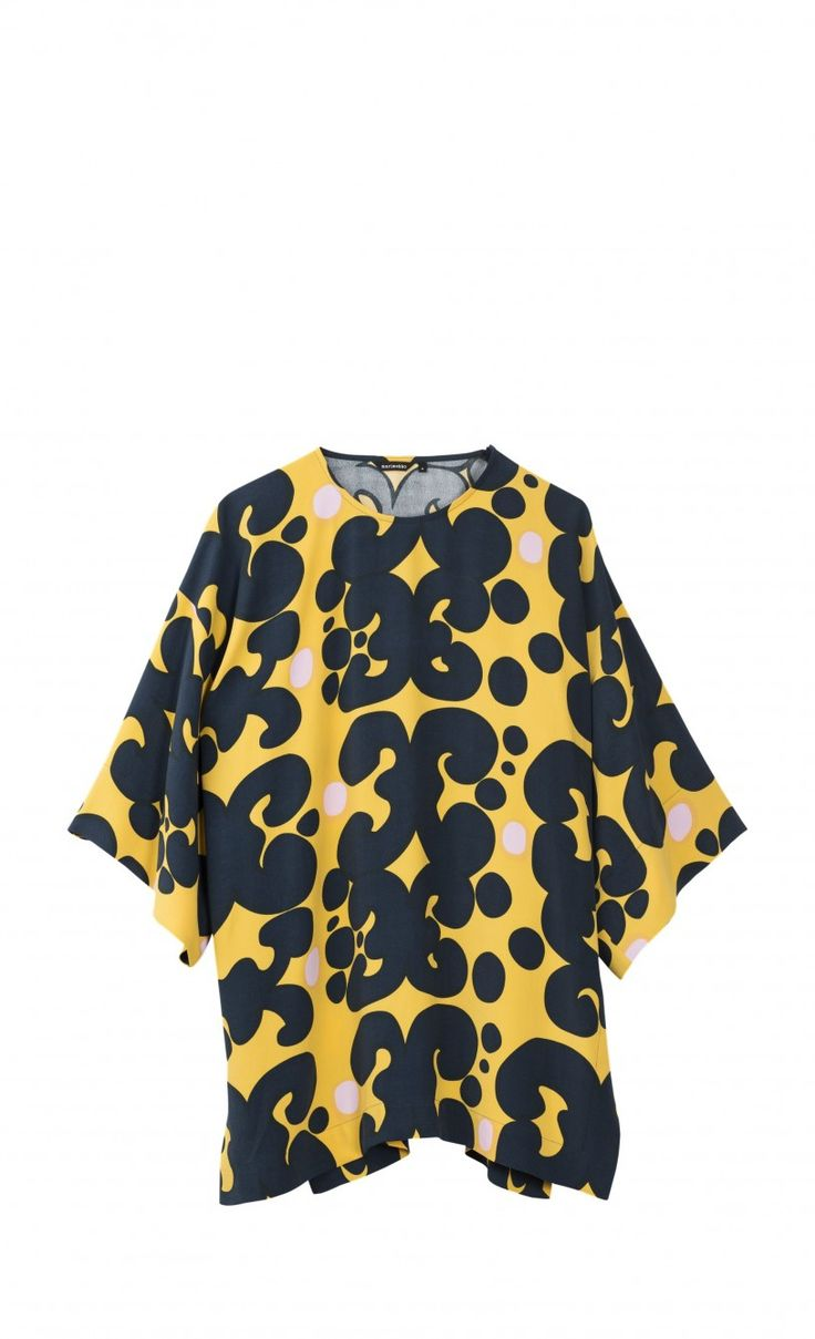 Saana Pieni Keidas tunic - yellow, dark blue, pink - New in - Clothing - Marimekko.com