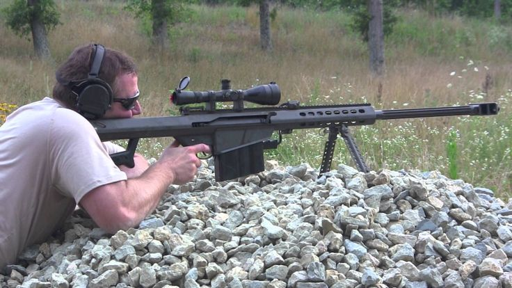 Firing the Monster Sniper Rifle! The M107 Barrett .50 Caliber Rifle