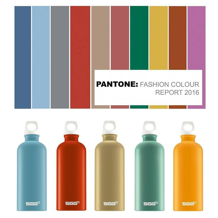 Thanks to the Pantone Color Institute's fashion report, these hues are Fall 2016's top shades for the season. We're here to help keep you in-style from head-to-toe (and hydrated at the same time) with our SIGG Elements bottles.