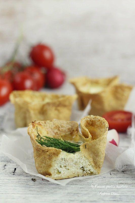 Dukan appetizer-baked basket with cheese and yogurt-Dukan #dukan #recipe #diet