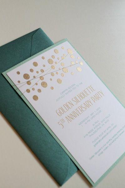 Impresión dorado sobre blanco - verde