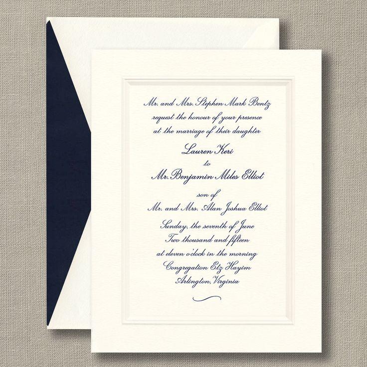 Best 25+ Formal Wedding Invitations Ideas On Pinterest