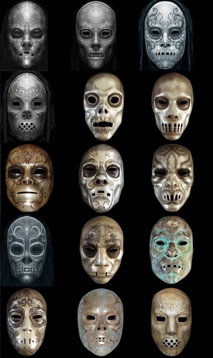 Harry Potter death eater masks