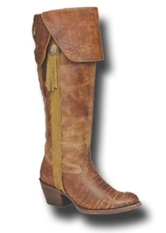 Cowgirl Clad Company - IN STOCK SIZE 9.5 - Corral Vintage Cognac Deer Knee High C1606, $285.00 (http://www.cowgirlclad.com/in-stock-size-9-corral-vintage-cognac-deer-knee-high-c1606/)
