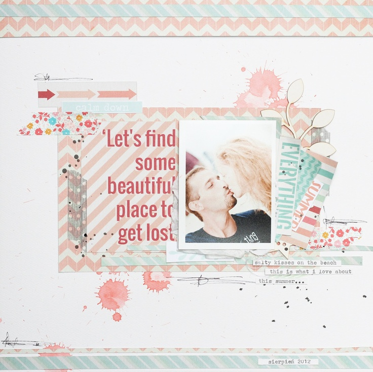Let's find some beautiful place (scrap corner):