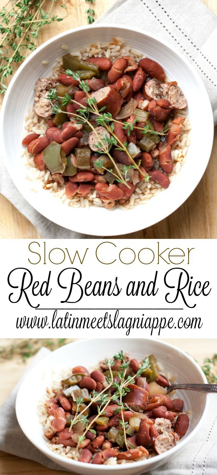 So delicious! This Slow cooker Red beans and rice is a savory and easy weeknight meal.