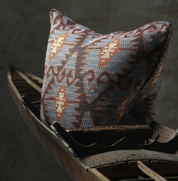Get in touch with your artistic side with our beautiful Espiga - Blue fabric #andrewmartin #pillow #cultural #blue #eclectic #fabric #pattern