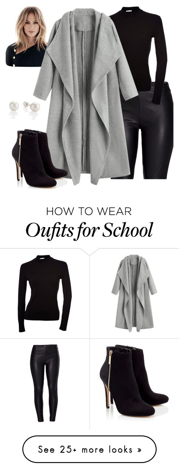 """Grey is new Black"" by amiableneeti on Polyvore featuring Venus, Lipsy and statementcoats"