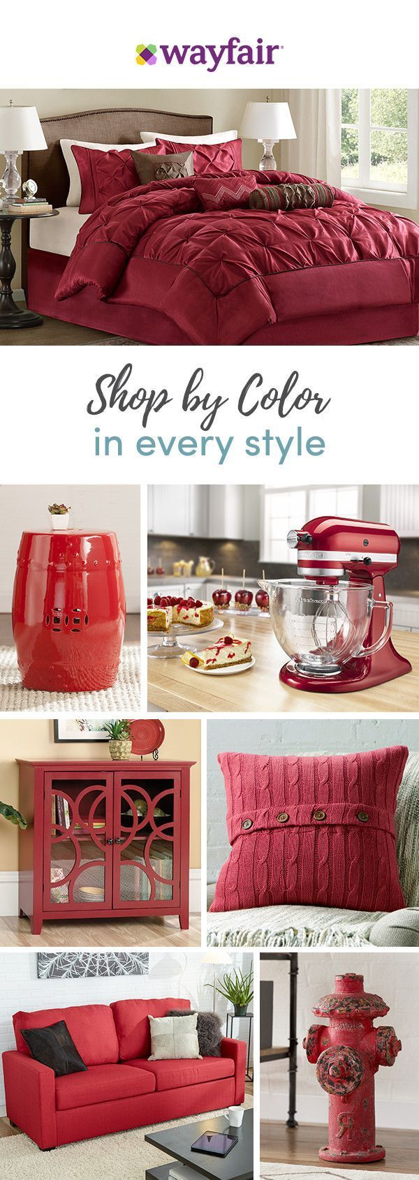 Want a bright and bold accent or a color-pop on the tabletop? From everyday essentials to festive furnishings and more, Wayfair has thousands of home must-haves in shades that suit every style, space, and budget. Visit Wayfair to get exclusive deals at up to 70% OFF, plus FREE shipping on all orders over $49. It's red all over! Sign up and shop now.