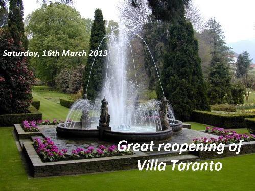Villa Taranto reopening 2013