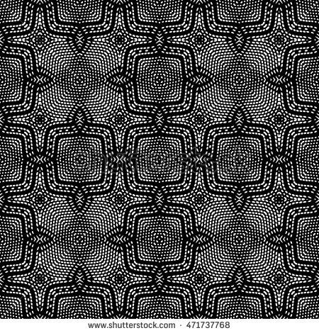 Black and white engraving seamless pattern, vector texture for registration of securities, certificate, or diploma.