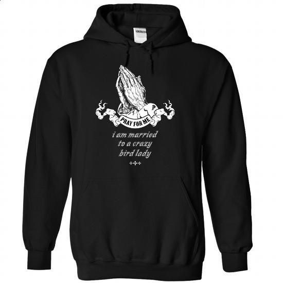 Married to a crazy Bird lady - 0915 - #silk shirt #womens sweatshirts. PURCHASE NOW => https://www.sunfrog.com/LifeStyle/Married-to-a-crazy-Bird-lady--0915-9666-Black-Hoodie.html?60505