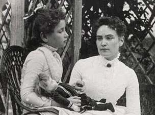Researchers have uncovered a rare photograph of a young Helen Keller with her teacher Anne Sullivan, nearly 120 years after it was taken on Cape Cod. The photograph, shot in July 1888 in Brewster, shows an 8-year-old Helen sitting outside in a light-colored dress, holding Sullivan's hand and cradling one of her beloved dolls. Experts on Keller's life believe it could be the earliest photo of the two women together and the only one showing the blind and deaf child with a doll...
