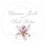 Wedding Stickers - Wedding Labels - Lily Sticker Labels - LARGE - (3 Colors)