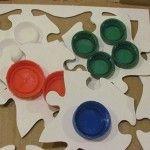 DIY: Pizza box textured puzzles
