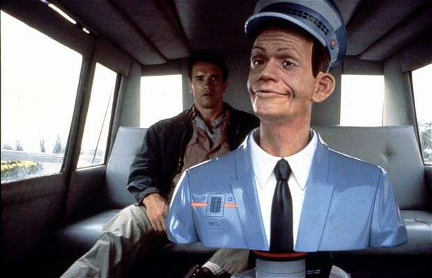 Total Recall (1990): In this Arnold Schwarzenegger film set in 2084, taxi drivers have been replaced by robots called Johnny Cabs - Tristar 2009