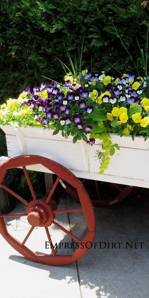 16+ More Creative Garden Container Ideas. Flower CartGarden ...