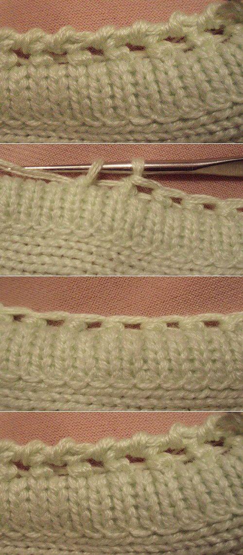Обработка края полотна крючком от SilverRain. | платок | Постила