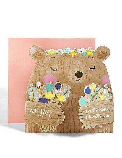 Bear Hug Mother's Day Card | M&S