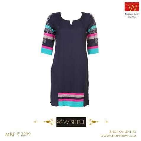 Sometimes, it doesn't matter what's up your sleeve, but what's on it. Just a click away :http://shopforw.com/categoryProducts.php?catID=151&maincatName=In%20Stores&smallCat=Kurta