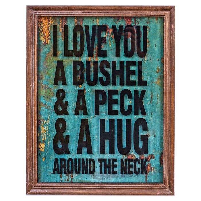 I Love You A Bushel and A Peck Framed Print