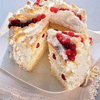 Новогодние десерты. Торт из клюквы с рикоттой