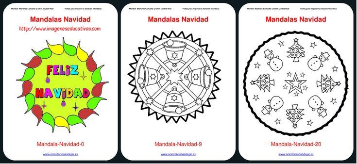 Colección Mandalas Navidad colorear 2015