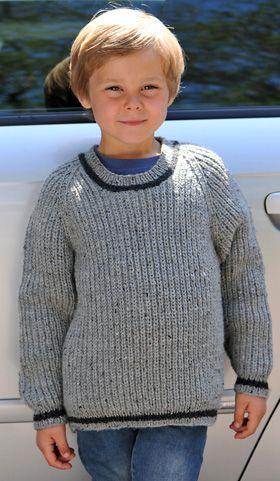 Strikkeopskrift, strik til børn, strikket drengesweater