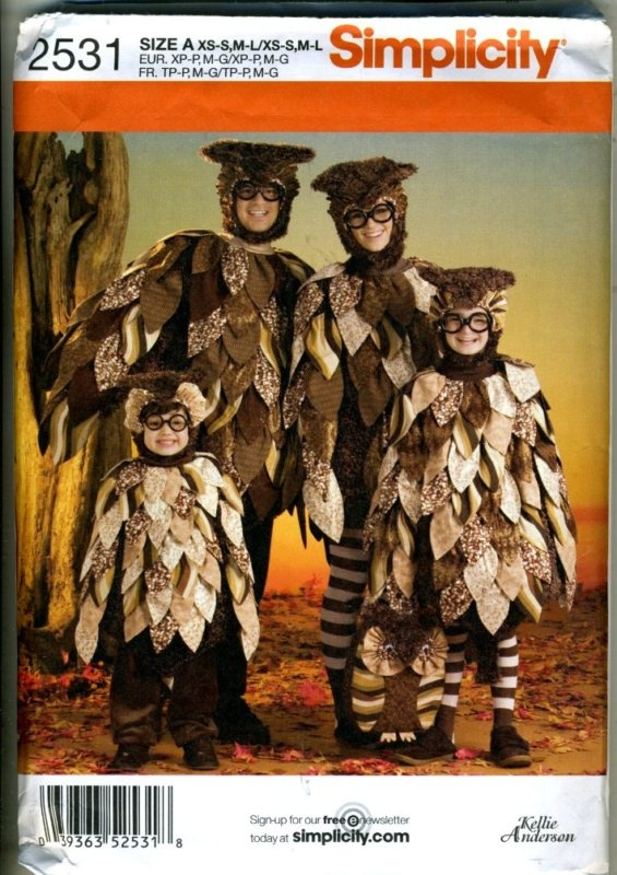 21 best owl costume images on pinterest owl costumes halloween pattern envelope for an owl costume solutioingenieria Images