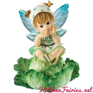 Cabbage Fairie- From Series Twenty One of the My Little Kitchen Fairies collection