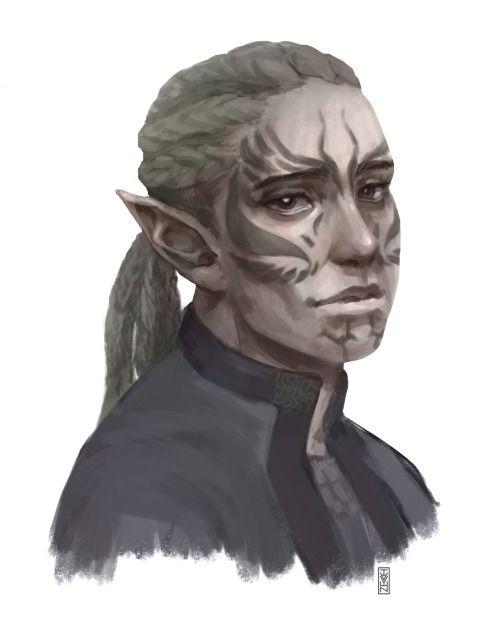 Gift))) Portrait of Gray Warden Surana for my friend)